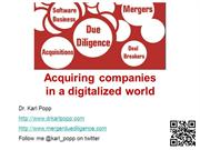Acquiring companies in a digitalized world