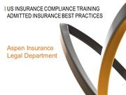 Compliance Training - Admitted Paper 2015