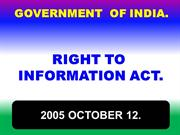 INDIA_ RIGHT TO INFORMATION ACT 2005