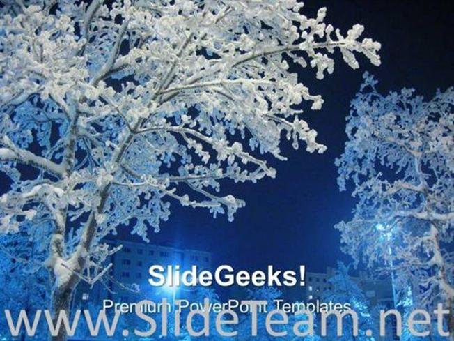 Winter Comes With Lot Of Snow Powerpoint TemplatePowerpoint Template