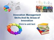 Innovation Management Skills And its Areas of Innovation. (2)