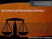 Tax Lawyers and Bankruptcy Attorney