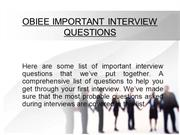 OBIEE Interview Preparation