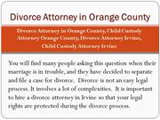 Divorce Attorney in Orange County