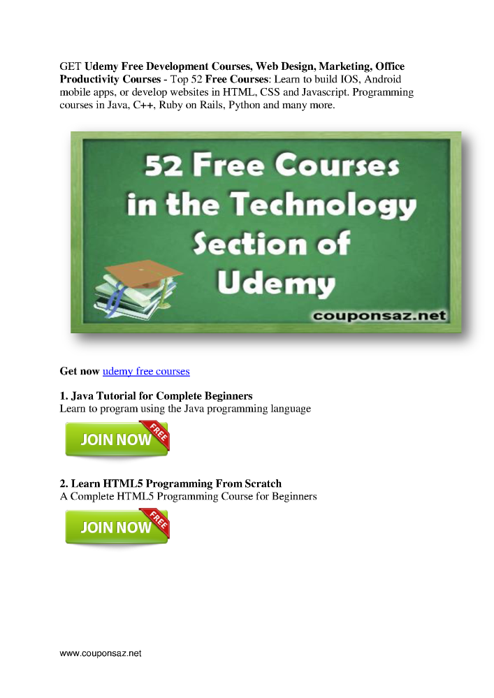 is udemy free