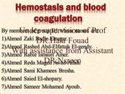 Haemostasis and blood coagulation last edition