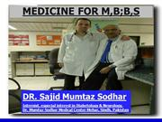 Examine for MBBS, By:Dr. Sajid Mumtaz Sodhar