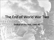 The End of World War Two