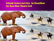 Island tours service  in Zanzibar by Zan One Tours Ltd