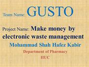 Make money by electronic waste management