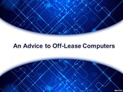 An Advice to Off-Lease Computers