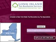 New York State Tax Experts Tips for IRS Tax Problems