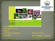 Kingdom Plantae by Sayali Diwan presented to Kailash Vilegave
