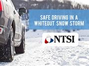 Safe Driving in a Whiteout Snow Storm