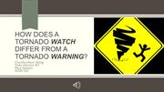 Difference Between Tornado Watch and Tornado Warning