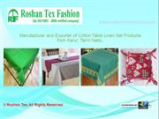 Table Runner, Table Cloth Manufacturer By Roshan Tex Fashion