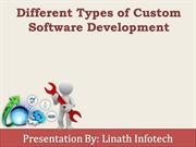 Different Types of Custom Software Development