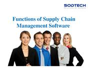 Functions of Supply Chain Management Software