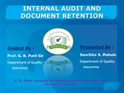 Internal Audit and Document Retention