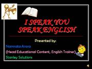 I SPEAK YOU SPEAK ENGLISH