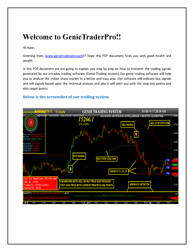 Intraday Trading Auto Buy Sell Signal Software  authorSTREAM