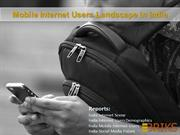Mobile  Internet users landscape  In India