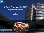 6 Best practices for ERP Implementations