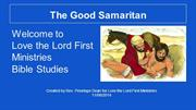 The Good Samaritan Power Point Present by Penny
