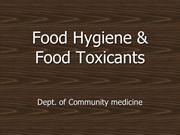 Food toxicants, Adulteration