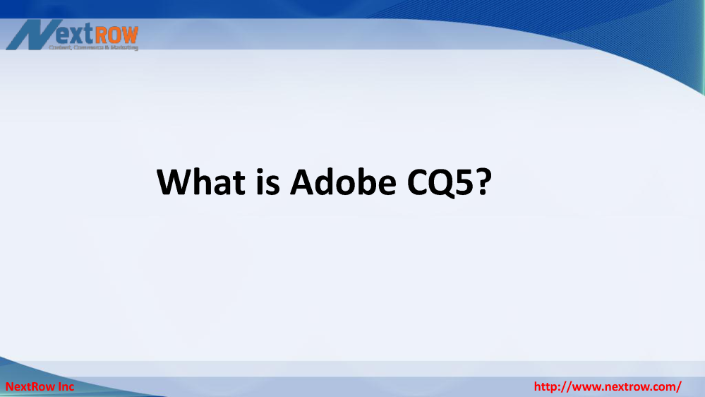 web content management system adobe cq5