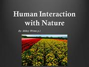 Human Interaction with Nature