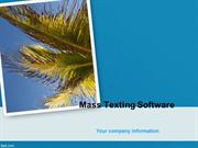 Mass Texting Software - Group Texting People from Your PC