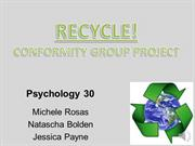 Conformity: Recycling Presentation