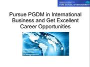 Pursue PGDM in International Business and Get Excellent Career Opportu