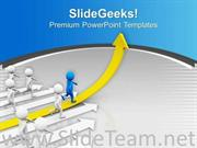RUN TOWARDS YOUR TARGET FOR BUSINESS POWERPOINT TEMPLATE