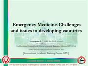 Issues and challenges in Emergency medicak care in India