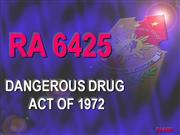 Dangerous Drugs Act