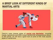 A Brief Look at Different Kinds of Martial Arts