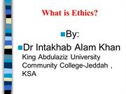 What is Ethics_Dr Intakhab Khan