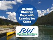 Helping Children Cope with Leaving for Camp