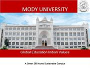 Mody University - Women's University in India
