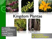 Kingdom Plantae presented by Vrushali Gharat to Mr. Kailash vilegave