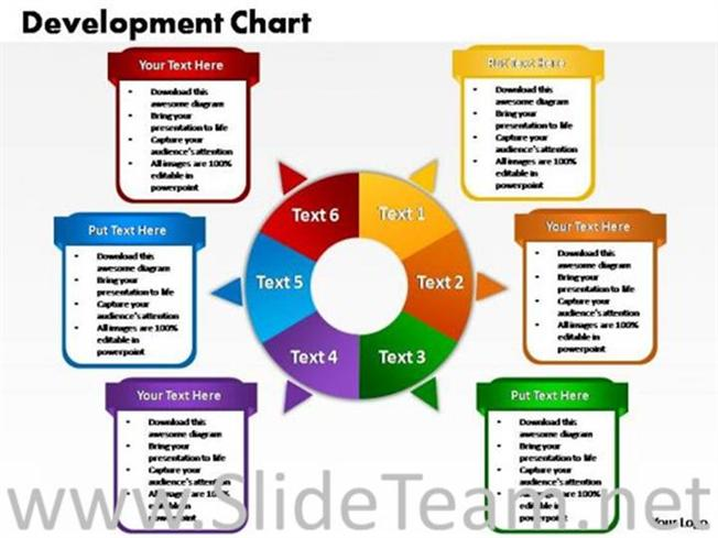 6 staged circular diagram for sales-powerpoint diagram, Powerpoint templates