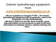 colonic hydrotherapy equipment