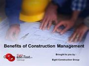 Benefits of Construction Project Management