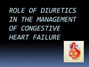Role of diuretics in the management of CCF