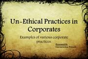 unethical practices in corporates