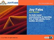 Joy Fabs - Bed Linen Manufacturer &Exporter