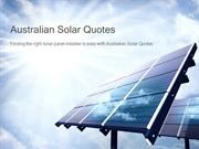 Finding the right solar panel installer with Australian Solar Quotes