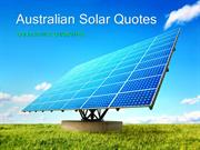 Australian Solar Quotes - Free Solar Panel & Power Quotes